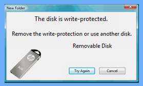 hp usb write protected