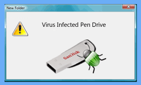virus infected sandisk usb