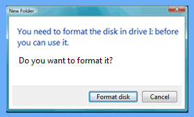 trancend pen drive not formatted