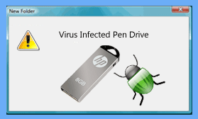 hp usb vieus infacted